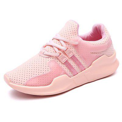 Buy Women Breathable Casual Flat Soles Skateboarding Shoes LIGHT PINK 36 for $21.12 in GearBest store