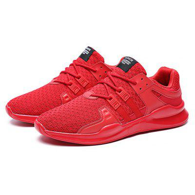 Buy RED 42 Male Breathable Soft Outdoor Running Athletic Shoes for $21.66 in GearBest store