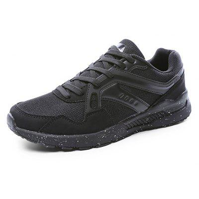Buy BLACK 45 Male Breathable Soft Light Outdoor Running Athletic Shoes for $22.61 in GearBest store