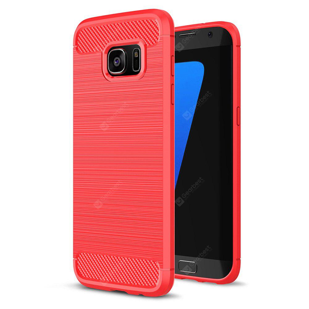 Buy Luanke Brushed Finish Soft Cover Samsung Galaxy S7 Edge RED
