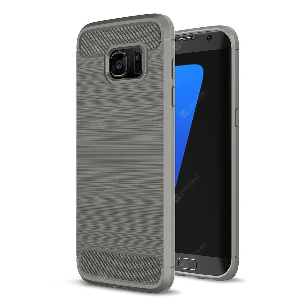 Buy Luanke Brushed Finish Soft Cover Samsung Galaxy S7 Edge GRAY