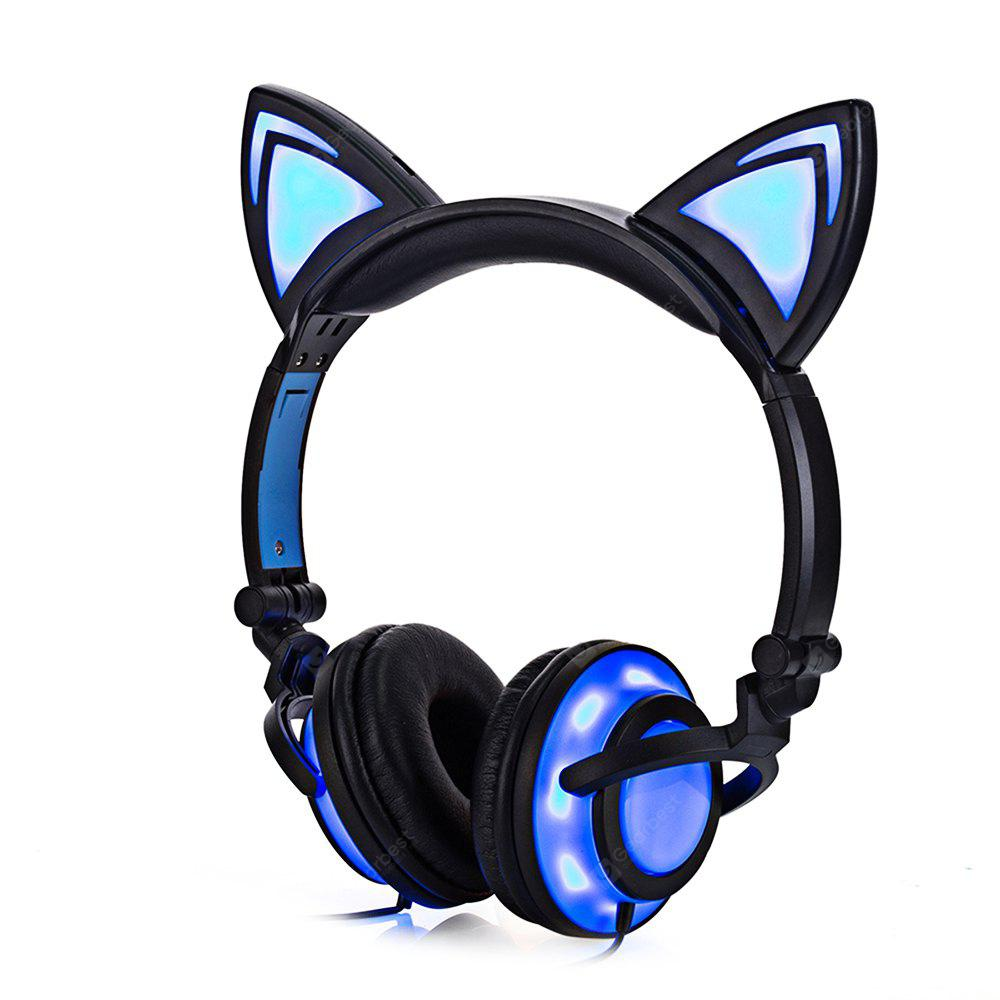 Led Lights For Motorcycle >> Cute Foldable Flashing Cat Ear Headphones - $13.21 Free Shipping|GearBest.com