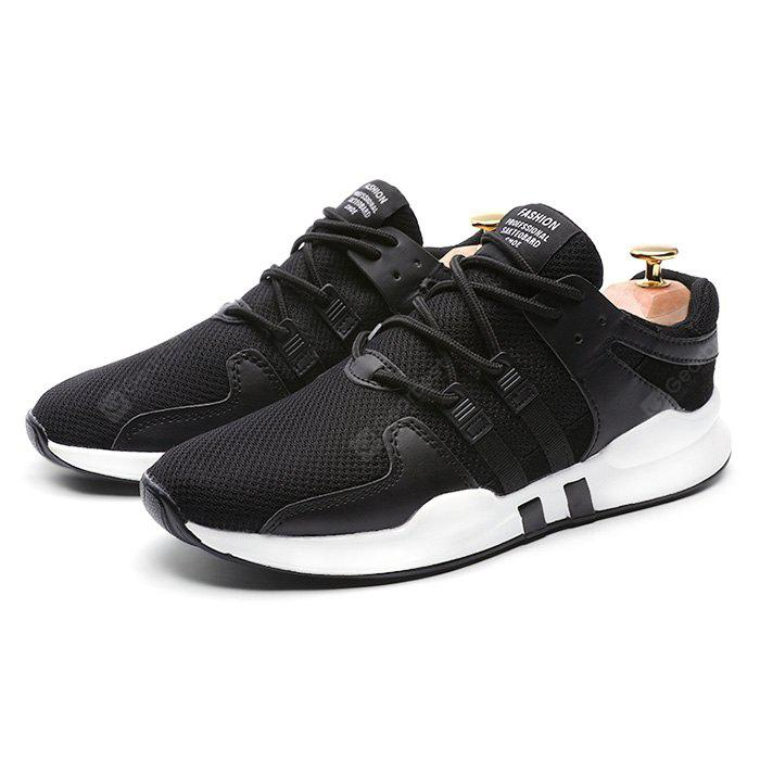 BLACK 43 Male Breathable Soft Durable Running Athletic Shoes
