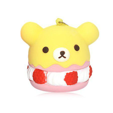 YELLOW PU Foam Lovely Bear Style Squishy Toy
