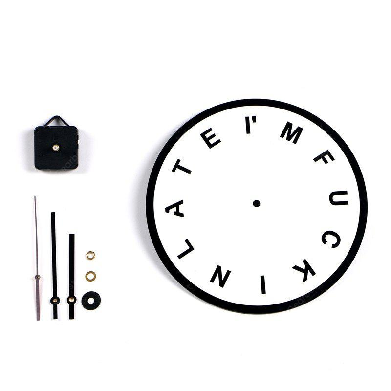 M.Sparkling Stylish English Letters Creative Wall Clock
