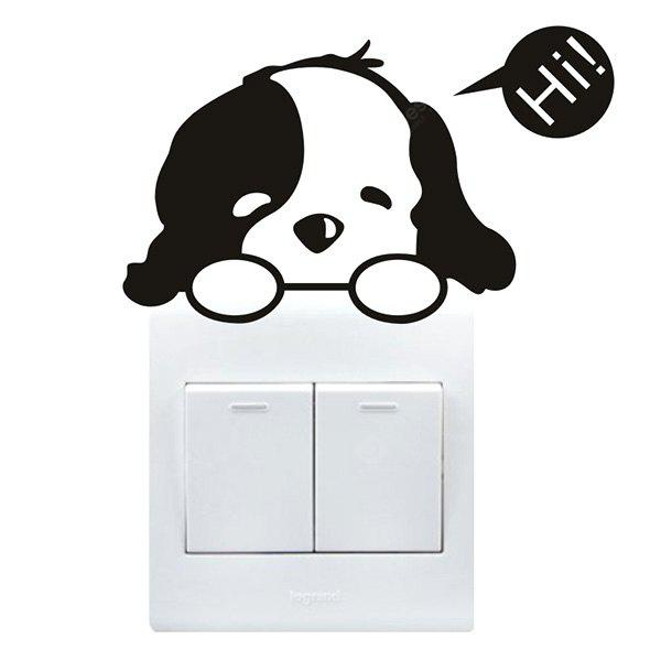 Creative Cute Dog Wall Sticker for Switch