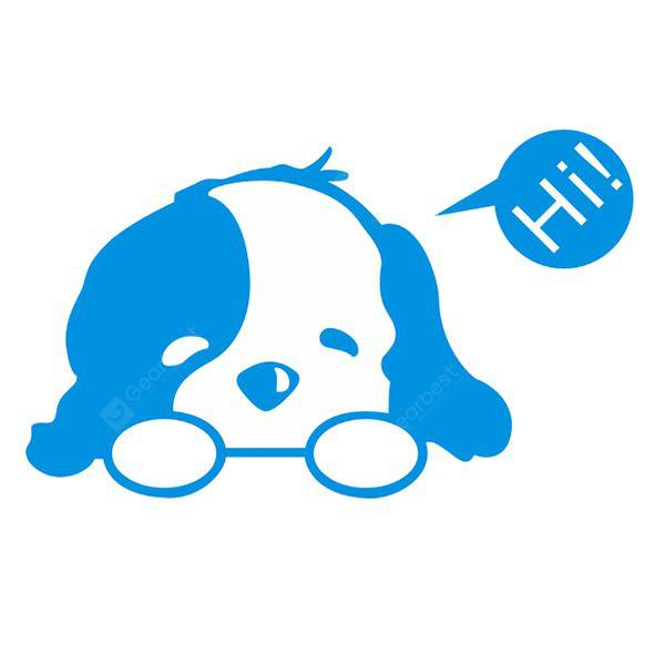 Creative Cute Dog Wall Sticker Switch BLUE