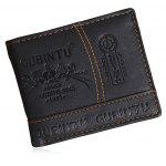 Men Fashion Printed Bifold PU Wallet - BLACK
