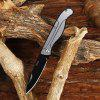 CTSmart 2003 Pocket Stainless Steel No Lock Folding Knife - SILVER AND BLACK