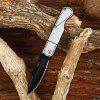 CTSmart 2005 Pocket Stainless Steel No Lock Folding Knife - SILVER AND BLACK