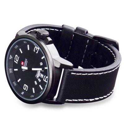 Naviforce 9028 Men Japan Quartz WatchMens Watches<br>Naviforce 9028 Men Japan Quartz Watch<br><br>Available Color: Black,Brown,Gun Metal,Red<br>Band material: Leather<br>Brand: Naviforce<br>Case material: Alloy<br>Clasp type: Pin buckle<br>Display type: Analog<br>Movement type: Quartz watch<br>Package Contents: 1 x Naviforce 9028 Watch<br>Package size (L x W x H): 27.50 x 5.50 x 2.30 cm / 10.83 x 2.17 x 0.91 inches<br>Package weight: 0.1300 kg<br>Product size (L x W x H): 26.50 x 4.60 x 1.30 cm / 10.43 x 1.81 x 0.51 inches<br>Product weight: 0.0800 kg<br>Shape of the dial: Round<br>Special features: Date, Day<br>The band width: 2.4 cm / 0.94 inches<br>The dial diameter: 4.6 cm / 1.81 inches<br>The dial thickness: 1.3 cm / 0.51 inches<br>Watch style: Military<br>Watches categories: Male table<br>Water resistance: 30 meters