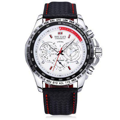 Megir 1010 Men Quartz Watch with Genuine Leather BandMens Watches<br>Megir 1010 Men Quartz Watch with Genuine Leather Band<br><br>Available Color: Black,White<br>Band material: Genuine Leather<br>Brand: MEGIR<br>Case material: Alloy<br>Clasp type: Pin buckle<br>Display type: Analog<br>Movement type: Quartz watch<br>Package Contents: 1 x Megir 1010 Watch<br>Package size (L x W x H): 26.20 x 5.40 x 2.20 cm / 10.31 x 2.13 x 0.87 inches<br>Package weight: 0.0950 kg<br>Product size (L x W x H): 25.20 x 4.40 x 1.20 cm / 9.92 x 1.73 x 0.47 inches<br>Product weight: 0.0650 kg<br>Shape of the dial: Round<br>Special features: Decorating small sub-dials<br>The band width: 2.0 cm / 0.79 inches<br>The dial diameter: 4.4 cm / 1.89 inches<br>The dial thickness: 1.2 cm / 0.47 inches<br>Watch style: Fashion<br>Watches categories: Male table<br>Wearable length: 17.5 - 22 cm / 6.89 - 8.66 inches