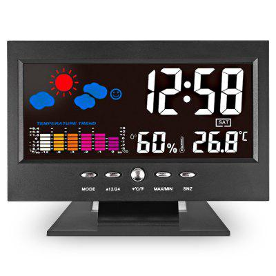 Unique Digital LED Alarm ClockWeather Station<br>Unique Digital LED Alarm Clock<br><br>Feature: Backlight display, °C/°F display selection<br>Operating temperature: 0 - 50 Deg.C / 32 - 122 Deg.F<br>Package Contents: 1 x Alarm Clock, 1 x English User Manual<br>Package size (L x W x H): 15.50 x 11.80 x 4.00 cm / 6.1 x 4.65 x 1.57 inches<br>Package weight: 0.2480 kg<br>Product size (L x W x H): 14.50 x 10.00 x 3.00 cm / 5.71 x 3.94 x 1.18 inches<br>Product weight: 0.1700 kg<br>Type: Indoor Thermometer<br>°C/°F Display Selection: Yes