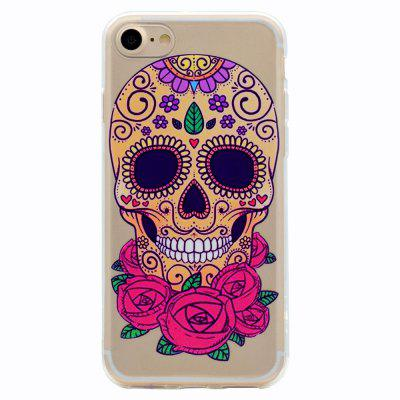 Buy MULTICOLOR Skeleton Theme TPU Phone Soft Case for iPhone 7 for $2.81 in GearBest store