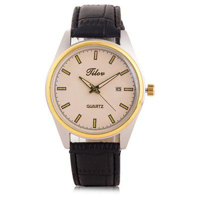 TILOV G4 19625 - 12 Genuine Leather Band Men Watch