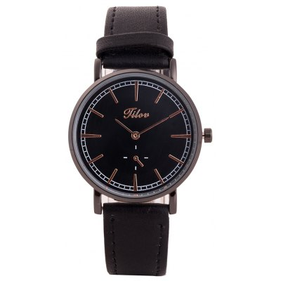 TILOV G4 19625 - 1 Genuine Leather Band Women Watch