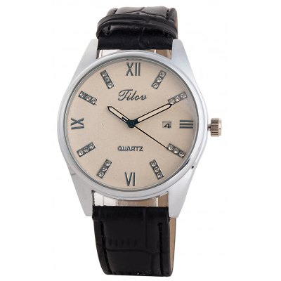 TILOV G4 19625 - 6 Genuine Leather Band Women Watch