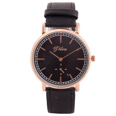 TILOV G4 19625 - 4 Genuine Leather Band Men Watch