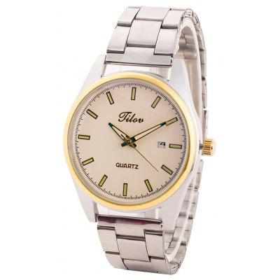 TILOV G4 19625 - 5 Steel Band Men Quartz Watch