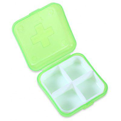 3PCS Portable Travel 4-compartment Pill Storage Box Case