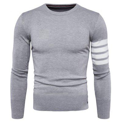 Masculino Trendy Round Neck Joint Long Sleeves Sweater