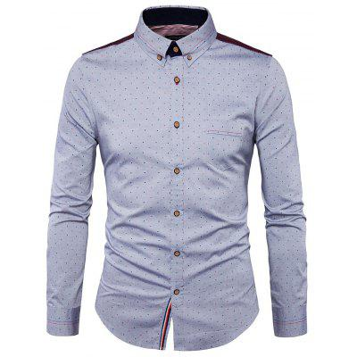 Male Fashion Jiont Long Sleeves Shirt