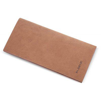 Men Fashion Slim Retro PU Long Wallet
