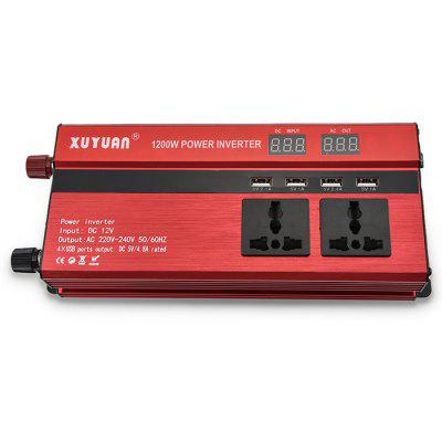 XUYUAN LED 1200W Power Inverter with Screen 12 - 220V