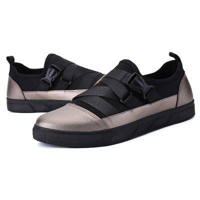 Masculino Stylish Solid Color Respirável Slip On Casual Shoes