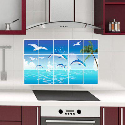 Buy COLORMIX DSU Seascape Removable Waterproof Decorative Wall Sticker for $2.37 in GearBest store