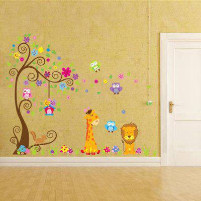 Buy DSU Removable Cartoon Animal Design Wall Sticker, COLORMIX, Home & Garden, Home Decors, Wall Art, Wall Stickers for $9.63 in GearBest store