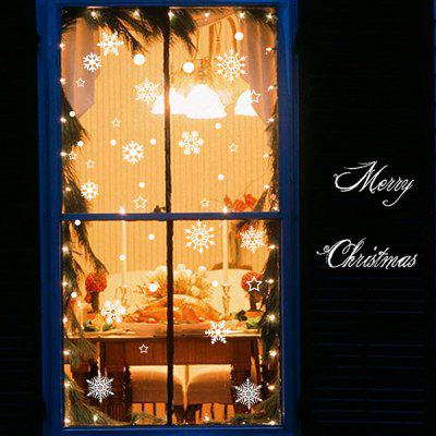 Buy WHITE MCYH 1pc Christmas Decor Glass Window Sticker for $7.73 in GearBest store