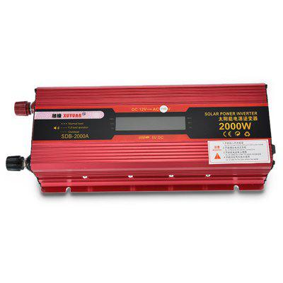 XUYUAN LCD 2000W Power Inverter 12 - 110V