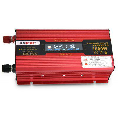 XUYUAN LCD 1000W Power Inverter with Screen 12 - 110V