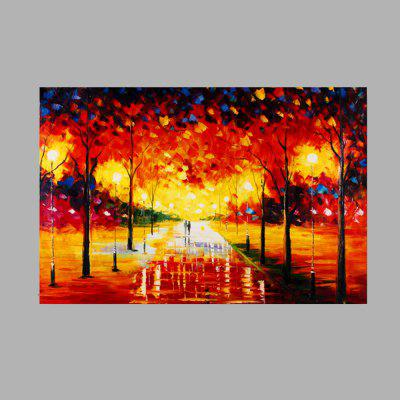 Buy COLORMIX Macroart Hand Painted Colorful Abstract Grove View Oil Painting for $49.02 in GearBest store