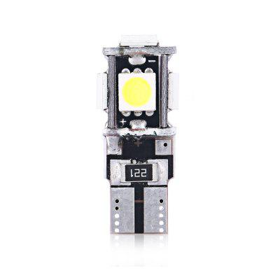 10pcs SMD5050 LED Car Error Wedge Clearance LightCar Lights<br>10pcs SMD5050 LED Car Error Wedge Clearance Light<br><br>Color temperatures: 6500K<br>Connector: T10<br>LED Quantity: 5<br>LED Type: SMD 5050<br>Lumen: 2600LM<br>Package Contents: 10 x T10 SMD5050 Light<br>Package size (L x W x H): 11.00 x 6.00 x 4.00 cm / 4.33 x 2.36 x 1.57 inches<br>Package weight: 0.1500 kg<br>Power: 2.15W<br>Product size (L x W x H): 2.60 x 1.00 x 1.00 cm / 1.02 x 0.39 x 0.39 inches<br>Product weight: 0.0030 kg<br>Type: Clearance Light<br>Voltage: 12V