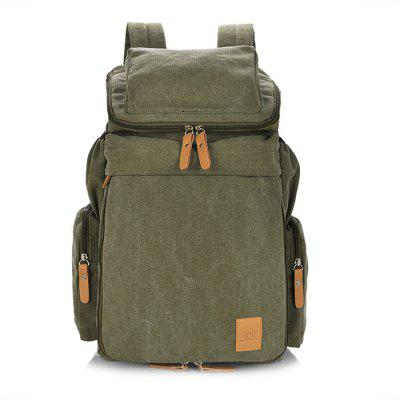 Buy ARMY GREEN Men Outdoor Multifunctional Canvas Backpack for $33.28 in GearBest store