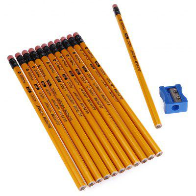Marco 4200E 12PCS Wooden 2B Pencil Drawing Pen