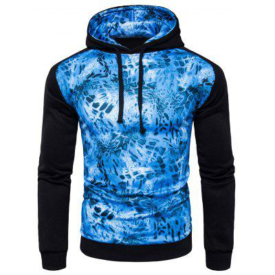 Joint Long Sleeves Cool Hoodie for Men