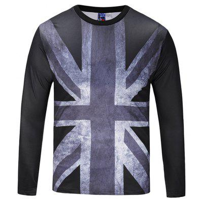 Casual Fashion Round Collar Long Sleeve Printed T-shirt