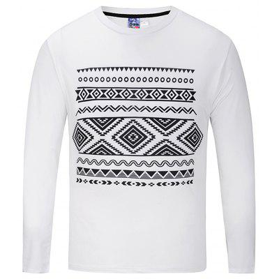 Simple Long Sleeve Printed T-shirt