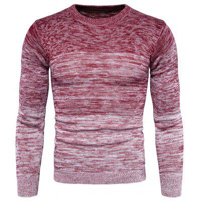 Male Round Neck Gradient Long Sleeves Sweater