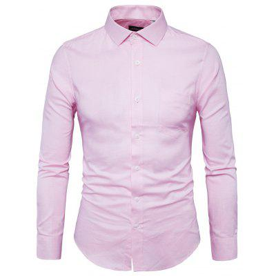 Men Soft Chic Solid Color Long Sleeves Shirt
