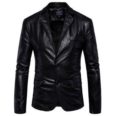 Men Casual Classic PU Leather Jacket