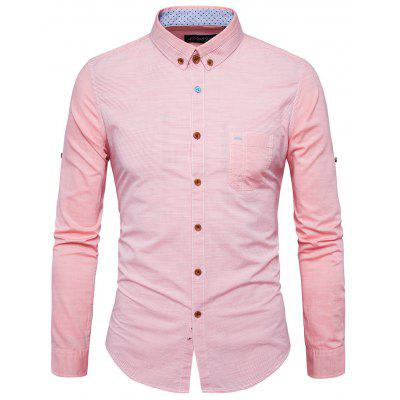 Men Comfortable Trendy Joint Long Sleeves Shirt