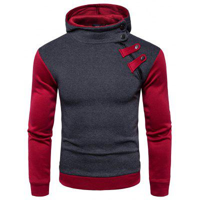 Male Zipper Fashion Joint Long Sleeves Hoodie