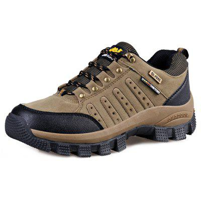 QIFENGCAMEL Male Outdoor Light Wearable Athletic ShoesAthletic Shoes<br>QIFENGCAMEL Male Outdoor Light Wearable Athletic Shoes<br><br>Brand: QIFENGCAMEL<br>Closure Type: Lace-Up<br>Contents: 1 x Pair of Shoes<br>Decoration: Split Joint<br>Function: Slip Resistant<br>Lining Material: Mesh<br>Materials: Mesh, Rubber, Leather<br>Occasion: Sports, Running, Outdoor Clothing, Holiday, Casual<br>Outsole Material: Rubber<br>Package Size ( L x W x H ): 31.00 x 21.00 x 11.00 cm / 12.2 x 8.27 x 4.33 inches<br>Pattern Type: Solid, Letter<br>Seasons: Autumn,Spring<br>Style: Modern, Leisure, Fashion, Comfortable, Casual<br>Toe Shape: Round Toe<br>Type: Sports Shoes<br>Upper Material: Leather