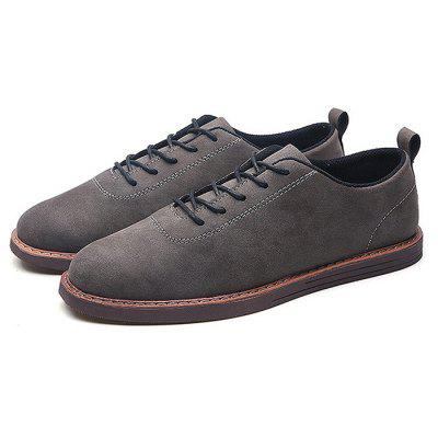 Male Stylish Soft Wearable Flat Casual Leather Shoes