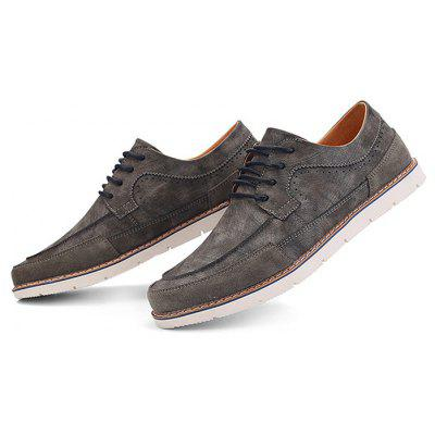 Male Stylish Leisure Flat Soft Lace Up Casual Shoes
