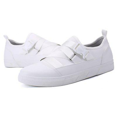Male Stylish Solid Color Breathable Slip On Casual Shoes